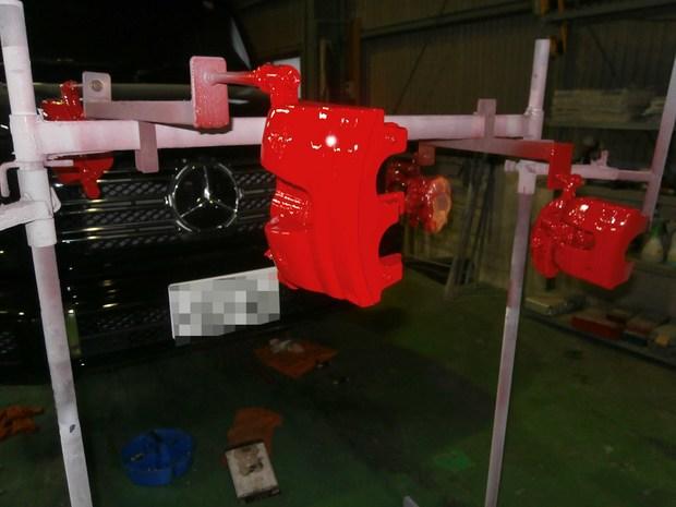 キャリパー塗装・ベンツ(G350) (1).JPG